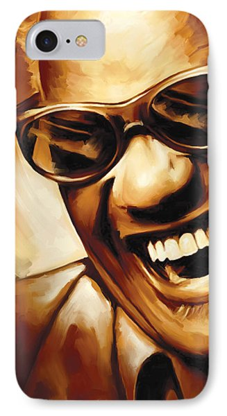 Ray Charles Artwork 1 IPhone Case by Sheraz A