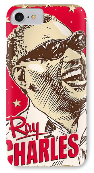 Ray Charles Pop Art IPhone Case by Jim Zahniser