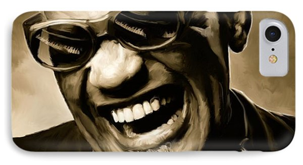 Ray Charles - Portrait IPhone Case by Paul Tagliamonte