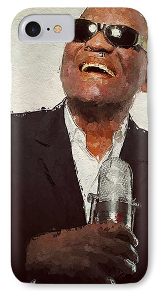 IPhone Case featuring the painting Ray Charles by Wayne Pascall