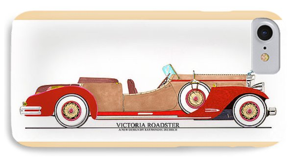 Ray Dietrich Packard Victoria Roadster Concept Design Phone Case by Jack Pumphrey