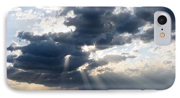 IPhone Case featuring the photograph Rays And Clouds by Antonio Scarpi
