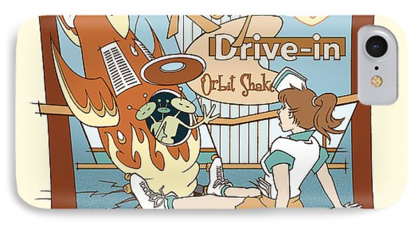 Ray's Drive-in - Brunette Sepia IPhone Case