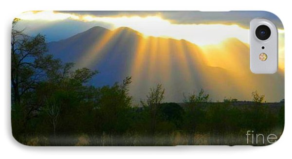 Rays From Heaven Phone Case by Michelle Frizzell-Thompson