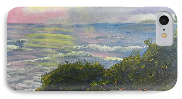 Rays Of Light At Burliegh Heads Phone Case by Pamela  Meredith