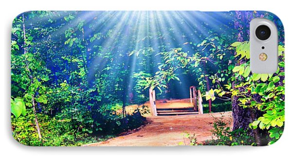 Rays Of Light To Guide The Path IPhone Case by Judy Palkimas