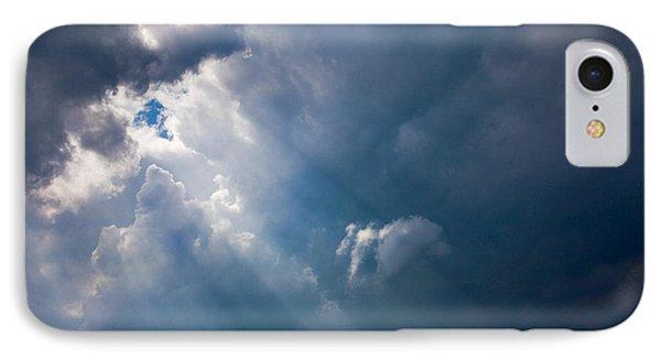 Rays Of Sunshine Through Dark Clouds Phone Case by Natalie Kinnear