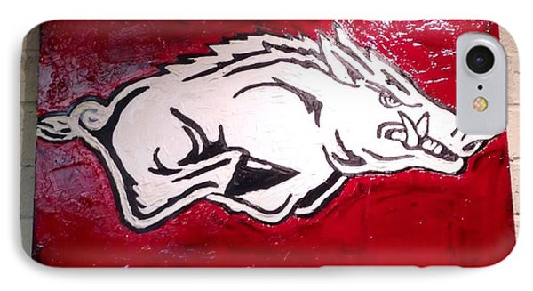 Razorback Painting Art IPhone 7 Case by Dawn Bearden