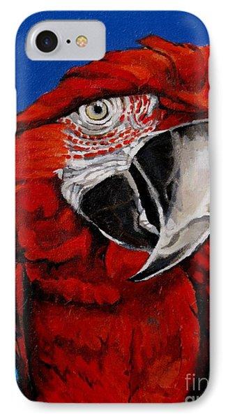 Razzy Red - Bird- Macaw IPhone Case