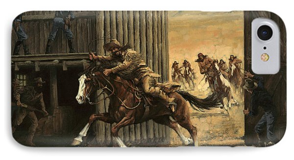 Re-closing Frontiersmen Coming Into The Fort IPhone Case