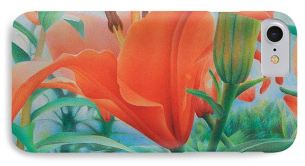 IPhone Case featuring the painting Reach For The Skies by Pamela Clements