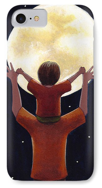 Reach The Moon IPhone Case by Christy Beckwith