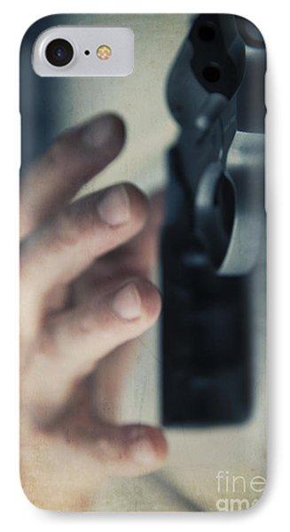 Reaching For A Gun Phone Case by Edward Fielding