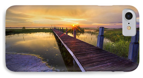 Reaching Into Sunset Phone Case by Debra and Dave Vanderlaan