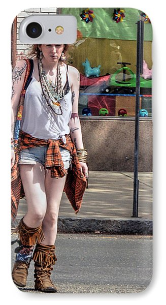 Redhead Crossing Main Street IPhone Case