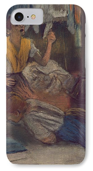 Reading A Letter IPhone Case by Edgar Degas