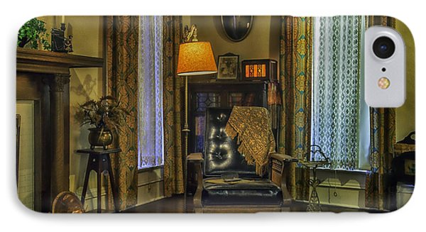 Reading Nook With Leather Chair Phone Case by Lynn Palmer