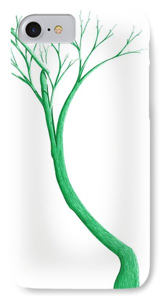 IPhone Case featuring the drawing Reading The Signs Of Nature by Giuseppe Epifani