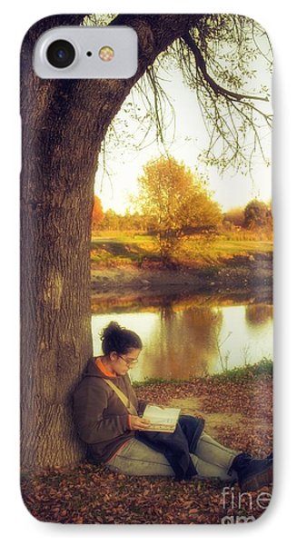 Reading Under The Tree IPhone Case