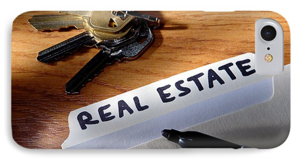 Real Estate File Folder With Marker And House Keys IPhone Case