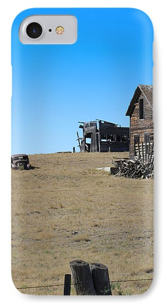 IPhone Case featuring the photograph Real Estate On The Open Plain by Kathleen Scanlan
