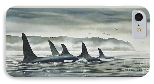 Realm Of The Orca Phone Case by James Williamson