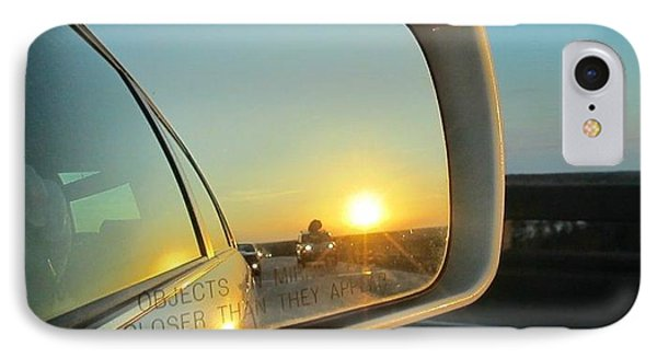 Rear View Sunset IPhone Case