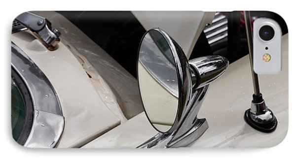Rear View Wing Mirror Chrome IPhone Case by Mick Flynn