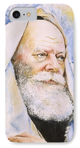 Rebbe In Tallis IPhone Case by Miriam Shaw