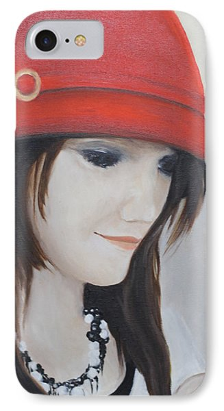 Rebecca's Red Hat IPhone Case
