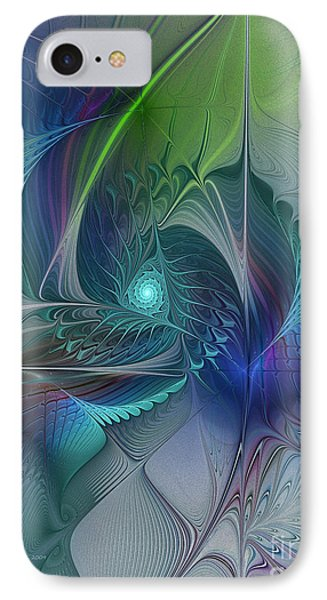 Rebirth-fractal Art IPhone Case by Karin Kuhlmann