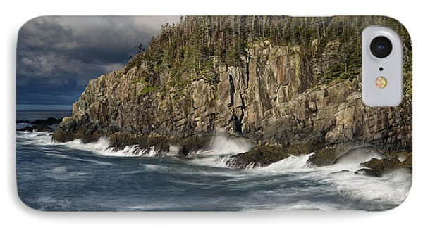 Receding Storm At Gulliver's Hole IPhone Case by Marty Saccone