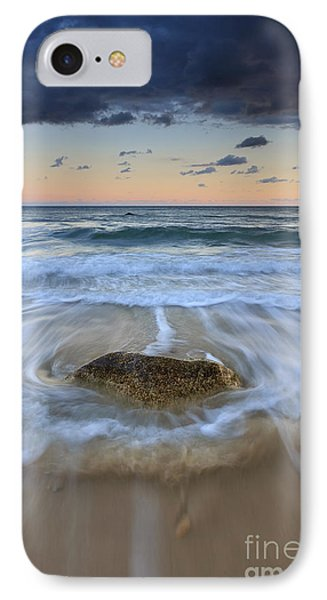 Receding Wave Stormy Seascape IPhone Case