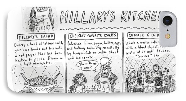 'recipes From Hillary's Kitchen' IPhone Case by Roz Chast