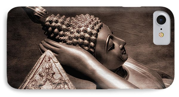 Reclining Buddha IPhone Case by Adrian Evans