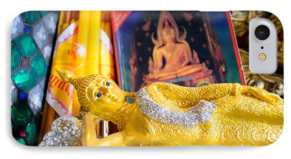 Reclining Buddha IPhone Case by Dean Harte