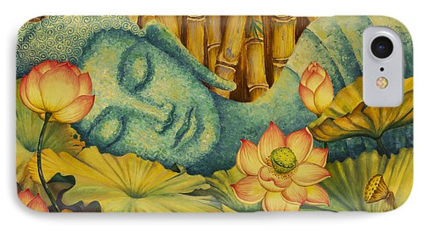 Reclining Buddha IPhone Case by Yuliya Glavnaya