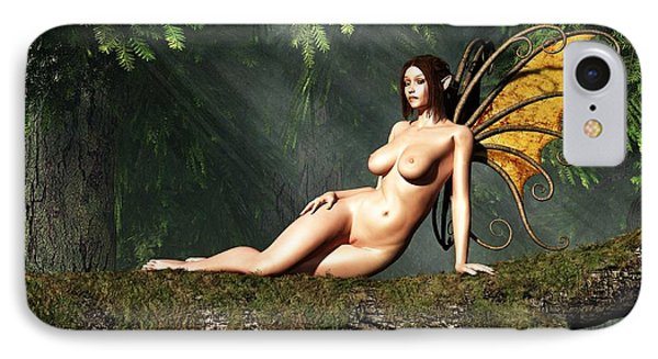 IPhone Case featuring the digital art Reclining Fairy  by Kaylee Mason