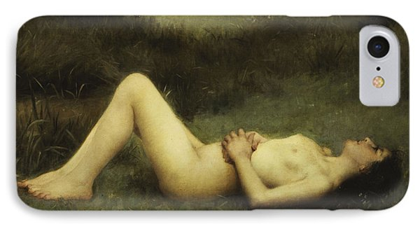 Reclining Nude IPhone Case by Louis Courtat