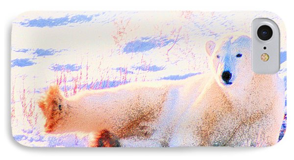 Reclining Polar Bear IPhone Case