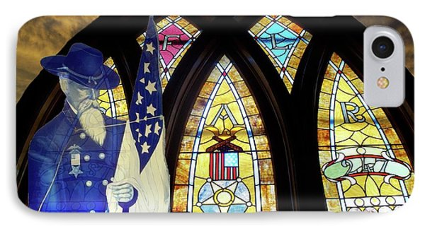 Recollection Union Soldier Stained Glass Window Digital Art Phone Case by Thomas Woolworth