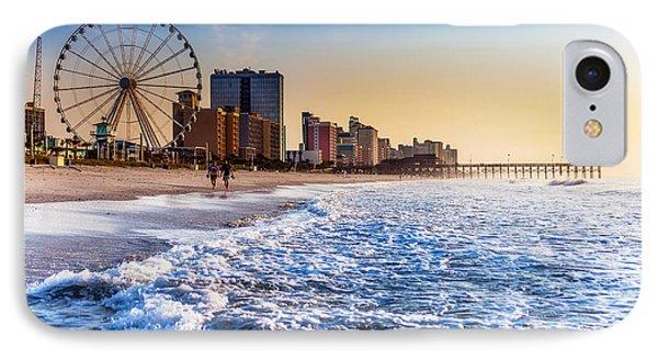 Recreation Beach Sunrise Phone Case by Kirk Strickland