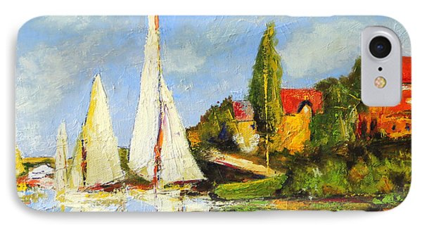 Recreation Of Boating At Argenteuil Phone Case by Marti Green