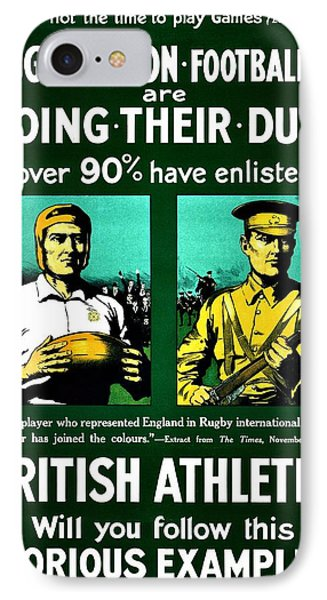 Recruiting Poster - Britain - Rugby Phone Case by Benjamin Yeager