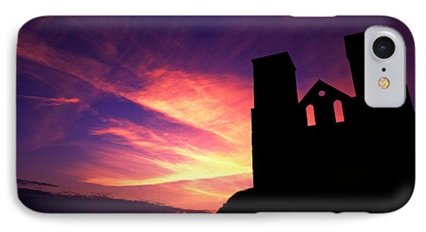 Reculver Church At Sunrise IPhone Case by John Topman