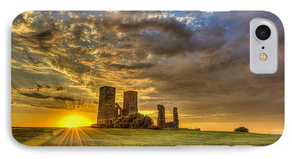Reculver Towers Kent Sunset IPhone Case