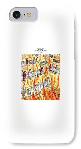 Recycling In Hell Unbent Paper Clips IPhone Case by Roz Chast