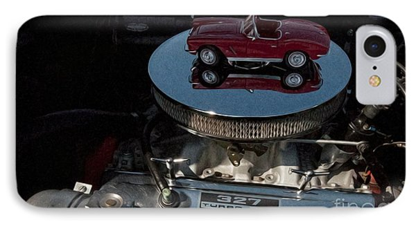 Red 1962 Chevrolet Corvette - Engine 327 - 300 Phone Case by Liane Wright