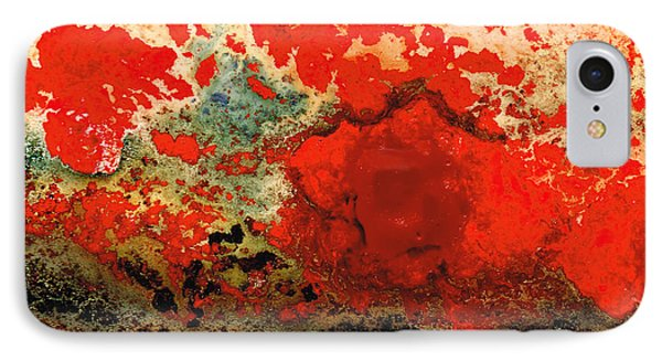 Red Abstract Art - Lava - By Sharon Cummings IPhone Case
