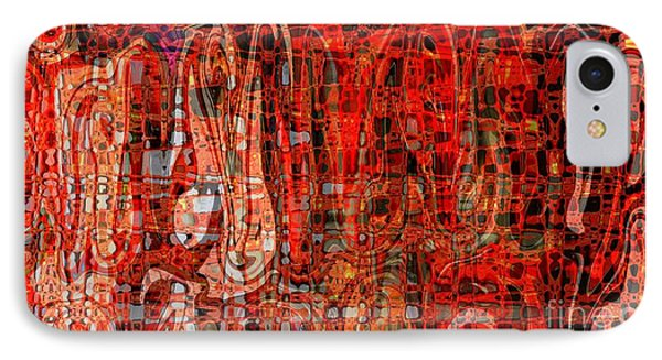 Red Abstract Panel Phone Case by Carol Groenen